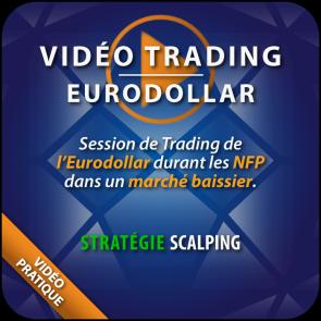 Vidéo Trading Eurodollar NFP marché baissier