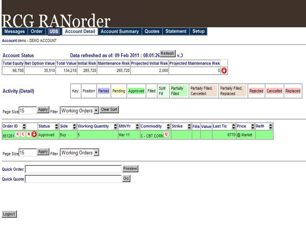 Logiciel Trading - Ran Order - Diamond Trading Academy